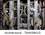 antique clock mechanism | Shutterstock . vector #764438413