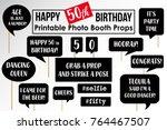 set of funny fiftieth birthday... | Shutterstock .eps vector #764467507