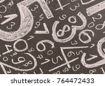 background of numbers. from... | Shutterstock . vector #764472433