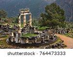 ancient delphi  greece   the... | Shutterstock . vector #764473333