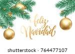 feliz navidad spanish merry... | Shutterstock .eps vector #764477107