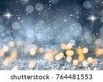 blurred bokeh light background  ... | Shutterstock . vector #764481553
