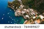 the coastline of italy is from... | Shutterstock . vector #764489827