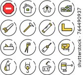 thin line vector icon set   no... | Shutterstock .eps vector #764490937