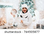 concept new year and christmas..... | Shutterstock . vector #764505877
