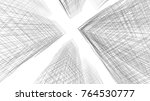 abstract architecture 3d... | Shutterstock . vector #764530777