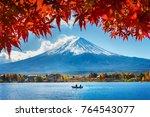 autumn season and mountain fuji ...   Shutterstock . vector #764543077