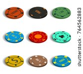 set of game icons. multicolored ... | Shutterstock .eps vector #764562883