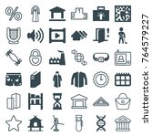 set of 36 modern filled and... | Shutterstock .eps vector #764579227