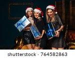 three best girlfriends...   Shutterstock . vector #764582863