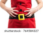 woman with bloated stomach... | Shutterstock . vector #764584327