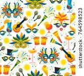 brazilian carnival. vector... | Shutterstock .eps vector #764598523