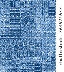 Modern Blue Check Pattern