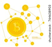 crypto currency bitcoin... | Shutterstock .eps vector #764638903