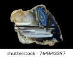 a cross section of the agate... | Shutterstock . vector #764643397