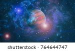 space many light years far from ... | Shutterstock . vector #764644747