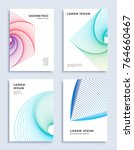 covers modern abstract design... | Shutterstock .eps vector #764660467