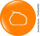 abstract cloud upload icon... | Shutterstock . vector #764666983