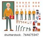 teacher man character... | Shutterstock .eps vector #764675347