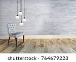 empty room interior design ... | Shutterstock . vector #764679223