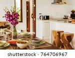 luxury interior design in... | Shutterstock . vector #764706967