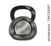kettlebell weight gym | Shutterstock .eps vector #764732047