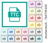 ttc file format flat color... | Shutterstock .eps vector #764739103