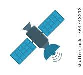 space satellite technology | Shutterstock .eps vector #764743213