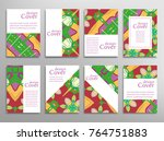 set of a4 cover  abstract... | Shutterstock .eps vector #764751883