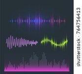 vector digital music equalizer...   Shutterstock .eps vector #764756413