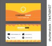 business card template vector... | Shutterstock .eps vector #764768437