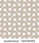vector floral art nouveau... | Shutterstock .eps vector #764769493