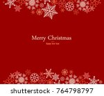 vintage red and silver... | Shutterstock .eps vector #764798797