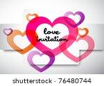love invitation   Shutterstock .eps vector #76480744