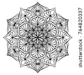 mandalas for coloring book.... | Shutterstock .eps vector #764820337
