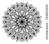 mandalas for coloring book.... | Shutterstock .eps vector #764820343