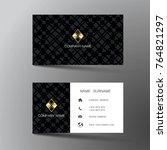modern business card template... | Shutterstock .eps vector #764821297