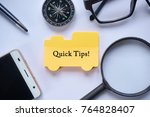 view from above. quick tips... | Shutterstock . vector #764828407