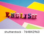 english word composed from... | Shutterstock . vector #764842963