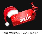 christmas sales  red new year... | Shutterstock .eps vector #764843647