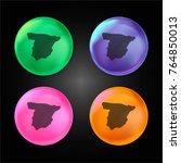 spain crystal ball design icon...   Shutterstock .eps vector #764850013