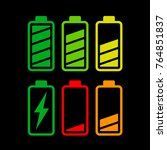 illustration of battery icons... | Shutterstock .eps vector #764851837
