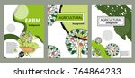 agricultural brochure layout...   Shutterstock .eps vector #764864233