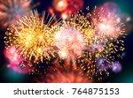 firework for celebration | Shutterstock . vector #764875153