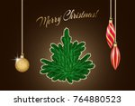 winter greeting card with... | Shutterstock .eps vector #764880523