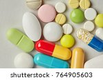 pills pharmacy collection on... | Shutterstock . vector #764905603