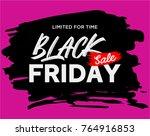 black friday sale banner   Shutterstock .eps vector #764916853