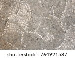 old mosaic  background from... | Shutterstock . vector #764921587