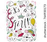a hand drawn congratulatory... | Shutterstock .eps vector #764930173