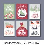 vector merry christmas and... | Shutterstock .eps vector #764933467
